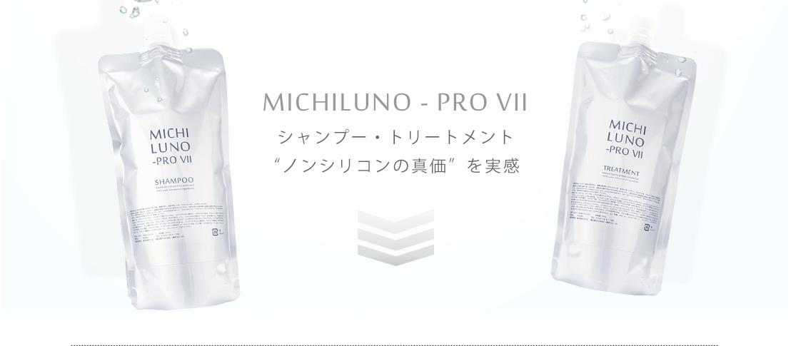 """MICHILUNO PRO-VII シャンプー・トリートメント""""ノンシリコンの真価""""を実感"""