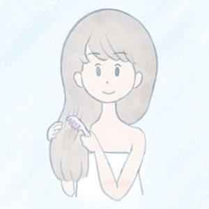 シャンプー前のブラッシングがくせ毛を予防