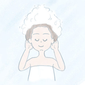 美しい髪を育てるには地肌をマッサージするようにシャンプーするのがおすすめ